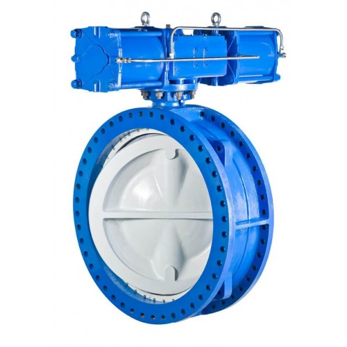 Delval series 55 double flange double offset resilient seat butterfly valve