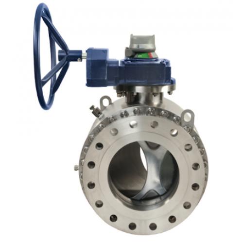 Valmatic quadrosphere trunnion mounted ball valve