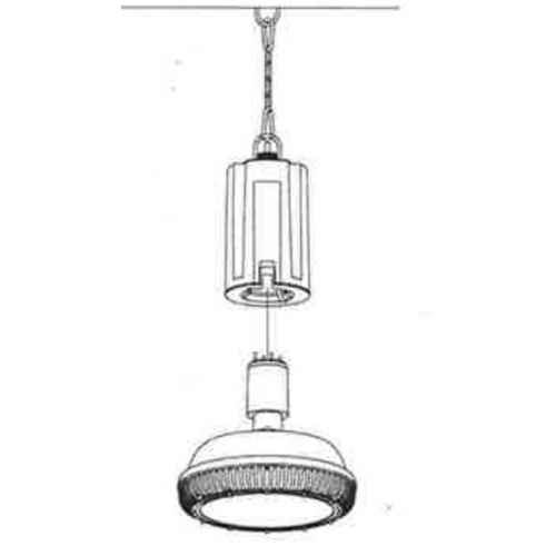 LED lighting fixture lifter with remote control