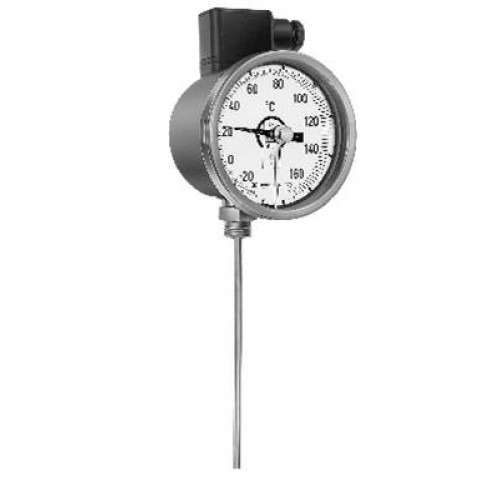 Rueger thermometer with electric contact