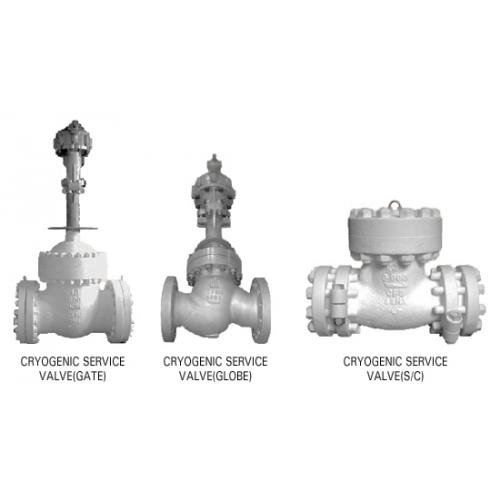 KJS cryogenic gate, globe & check valve