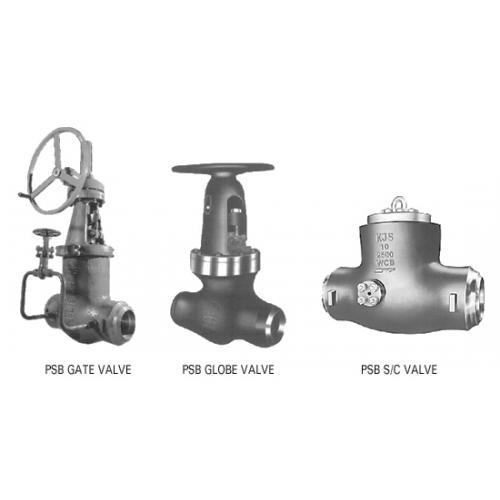 KJS pressure seal gate, globe & check valve