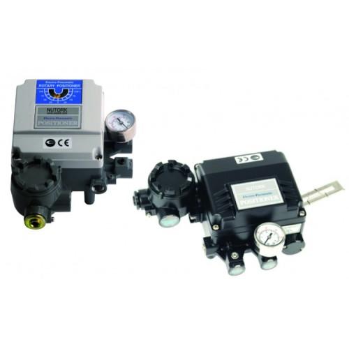 Nutork positioner for pneumatic actuator